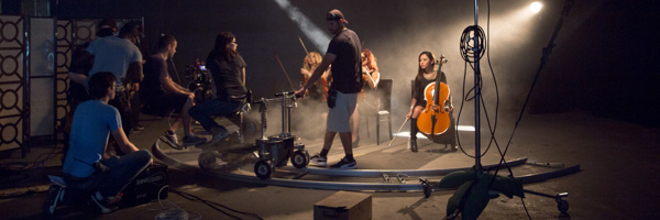 video production set for video commercials